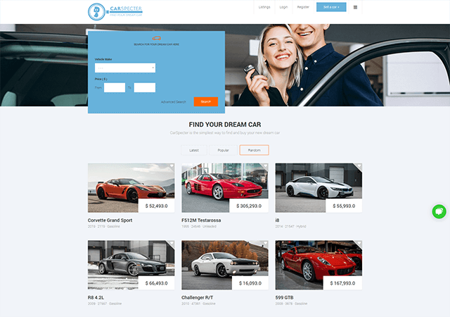Carspecter 2020 Client Site