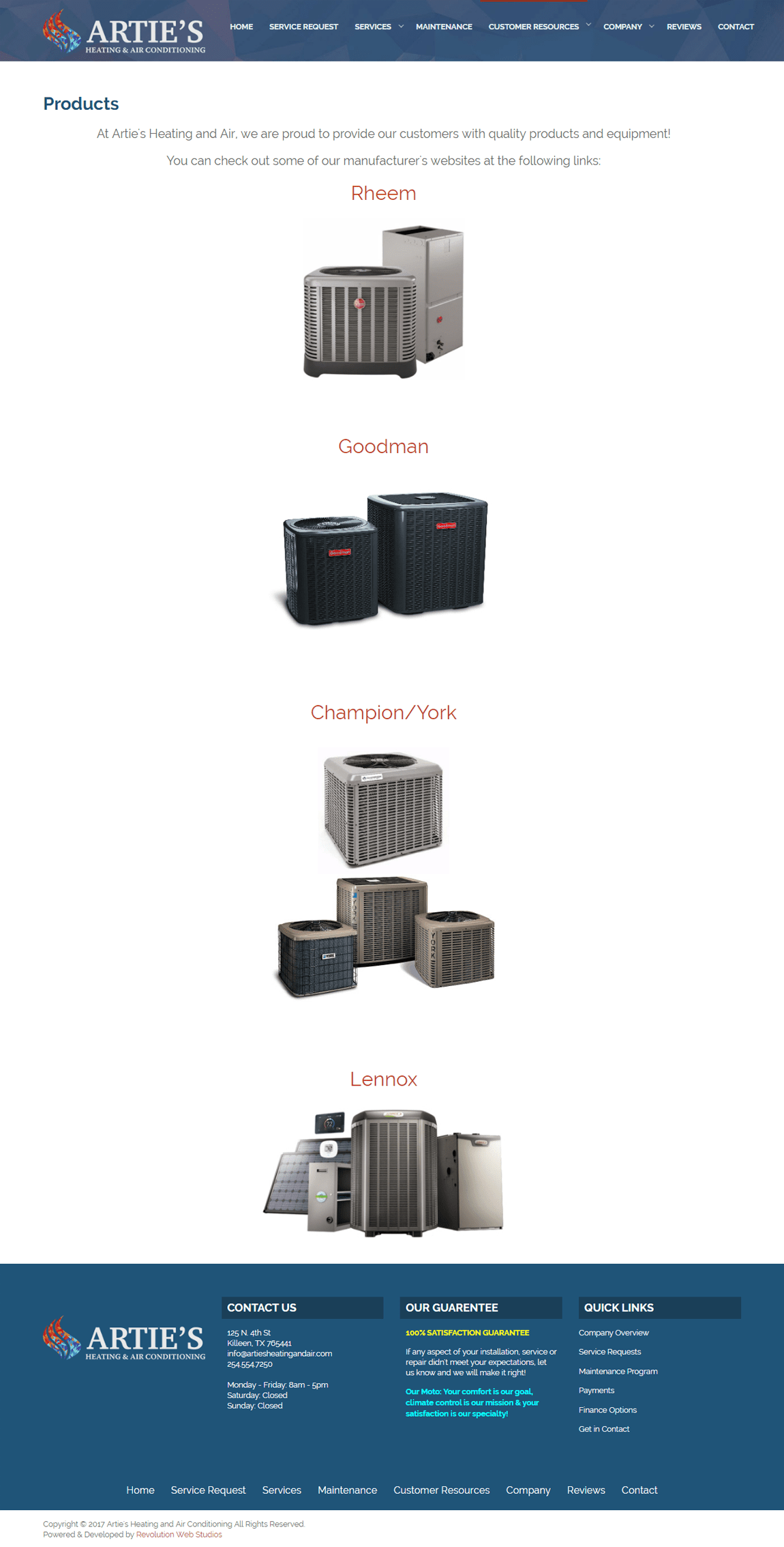 Artie S Heating And Air Conditioning